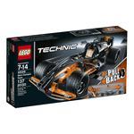 Конструктор Лего Техник Черный гоночный автомобиль для детей от 7 до 14 лет 138 деталей