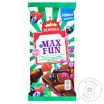 Шоколад молочний Корона Max Fun фруктово-ягідний 160г - купити, ціни на Novus - фото 1