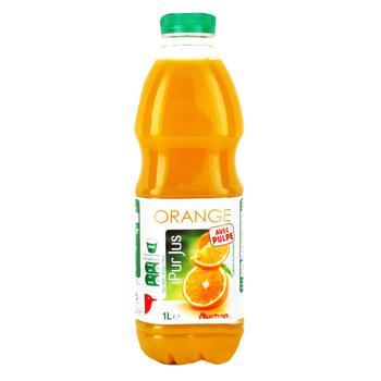 Сок Ашан апельсиновый натуральный 1л - купить, цены на Ашан - фото 1
