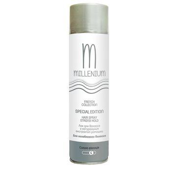 Лак Millenium Edition для укладки волос сильная фиксация с натуральным экстрактом жожоба 250мл - купить, цены на Ашан - фото 3