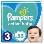 Підгузки Pampers Active Baby Розмір 3 (6-10 кг) 58шт