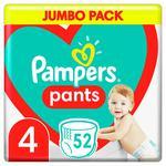 Подгузники-трусики Pampers Pants размер 4 Maxi 9-15кг 52шт