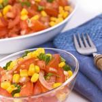Кукурузный салат с базиликом