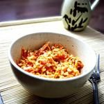 Морковный салат с крабовыми палочками
