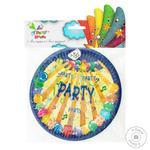 Тарелка одноразовая Party House Party бумажная 18см 6шт