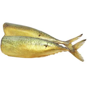 Рыба Скумбрия Українська Зірка холодного копчения без головы 4-6