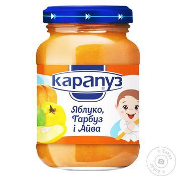 Пюре Карапуз 200 г яблуко морква айва