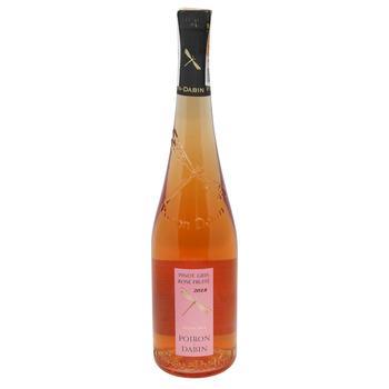 Вино Poiron Dabin Pinot Gris Rose рожеве сухе 12% 0,75л - купити, ціни на CітіМаркет - фото 1