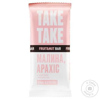 Батончик Take Take  шоколадний з малина та арахісом 35г