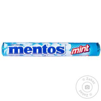 Драже жевательное Mentos Мята 37г