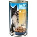 Reno for dogs canned with poultry food 1240g