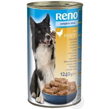 Консервы Reno для собак птица 1240г - купить, цены на Метро - фото 1