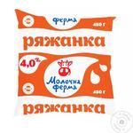 Ряжанка Молочна Ферма 4% 450 г