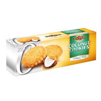 Печенье Quickbury кокосовое без сахара 150г - купить, цены на Космос - фото 1