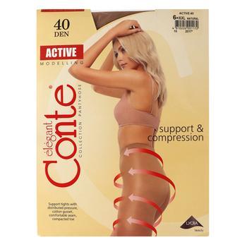 Колготы женские Conte Active 40 den natural размер 6