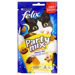 Ласощі для котів Felix Party Mix Сирний мікс 60г