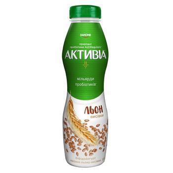 Бифидойогурт Активиа лен-отруби 1,5% 580г