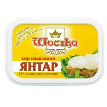 Shostka Yantar Processed Cheese 55% 150g - buy, prices for CityMarket - photo 1