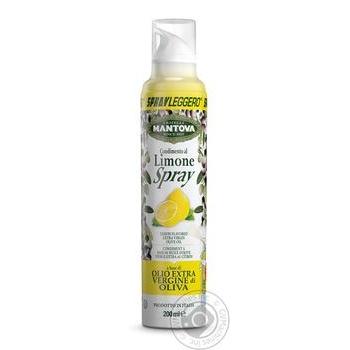 Масло-спрей оливковое Mantova Extra Virgin c лимоном 200мл - купить, цены на Восторг - фото 1