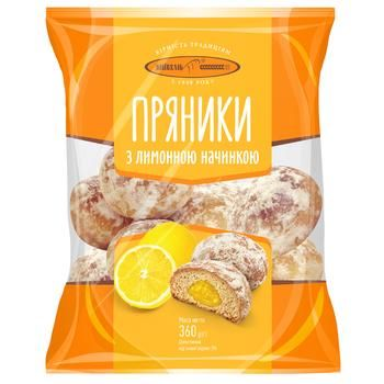 Пряники Київхліб з лимонною начинкою 360г - купити, ціни на ЕКО Маркет - фото 1