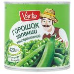 Горошек Varto зеленый консервированный 420г