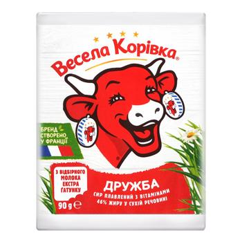 Vesela Korivka Processed cheese Druzhba with vitamins 46% 90g