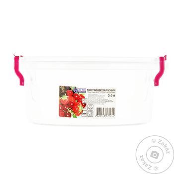 Контейнер Ал-Пластик для пищевых продуктов круглый 0,6л - купить, цены на Таврия В - фото 1