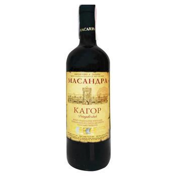 Вино Масандра Кагор Южный красное сладкое десертное крепленное 16% 0,75л
