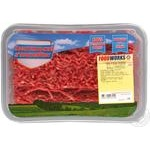 Mince Food works beef fresh Ukraine