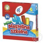 Пластилин Astra школьный 6 цветов