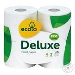 Папір туалетний Еколо Де Люкс 4шт 3шар білий - купить, цены на Восторг - фото 1