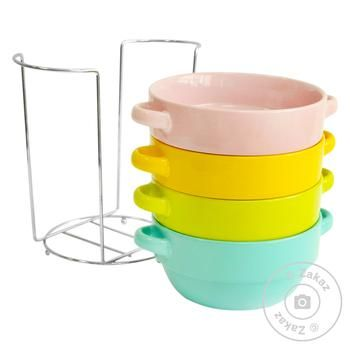 Oselya Set of Bowls with Handles for Broth 640ml 4pcs - buy, prices for Auchan - image 2
