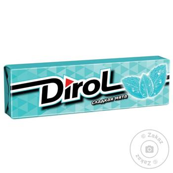 Жевательная резинка Dirol Сладкая мята 14г - купить, цены на МегаМаркет - фото 1