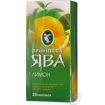 Чай зеленый Принцесса Ява лимон 25шт*1.5г - купить, цены на Восторг - фото 1