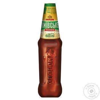 Пиво светлое Оболонь Киевское Разливное 3,8% 0,6л - купить, цены на Фуршет - фото 1