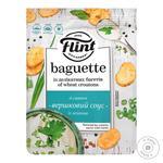 Сухарики Flint Baguette пшеничные вкус сливочного соуса с зеленю 110г