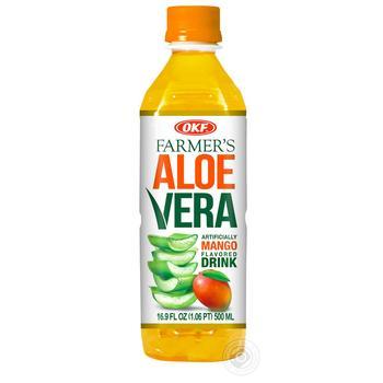 Напій OKF на основі алое вера безалкогольний негазований зі смаком манго 0,5л