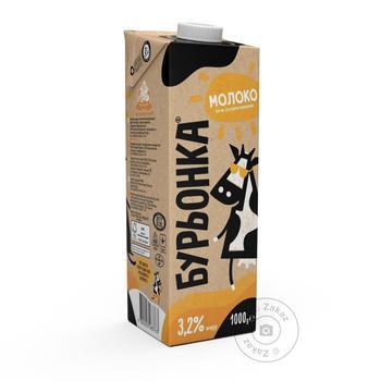 Молоко Буренка ультрапастеризованное 3.2% 1л - купить, цены на Novus - фото 1