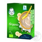 Молочна каша Gerber Organic Пшенично-вівсяна з бананом 240г