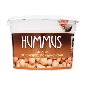 Закуска Yofi Hummus с медом и горчицей по дижонской 250г - купить, цены на МегаМаркет - фото 1