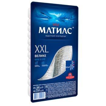 Сельдь Санта Бремор Матиас XXL филе отборное в масле 300г - купить, цены на СитиМаркет - фото 1
