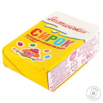 Сырок сладкий Яготинский с ароматом ванили 17% 90г - купить, цены на Фуршет - фото 2