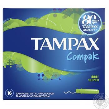Тампоны Tampax Super Duo 16шт - купить, цены на Метро - фото 1