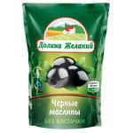 Dolina Zhelaniy Pitted Black Olives 200ml - buy, prices for EKO Market - photo 1