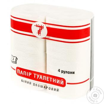 Туалетная бумага Семерка белая 4шт - купить, цены на Таврия В - фото 1