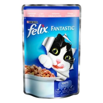 Felix Salmon Canned For Cats Food 100g