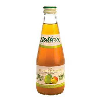 Galicia apple-pear juice 0,3l glass - buy, prices for Auchan - photo 1