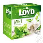 Чай Loyd мята травяной в пирамидках 20шт*1.7г