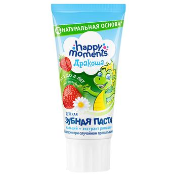 Toothpaste Happy moments strawberries with cream for children from 1 year 75g - buy, prices for Furshet - image 1