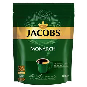 Кофе Jacobs Monarch растворимый в экономичной упаковке 130г